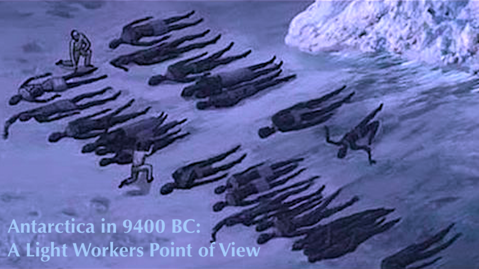 Rows of pre-Adamite bodies taken from ruins where they had been flash frozen during an ancient disaster. Illustration created for Gaia from descriptions by Corey Goode from his observations.